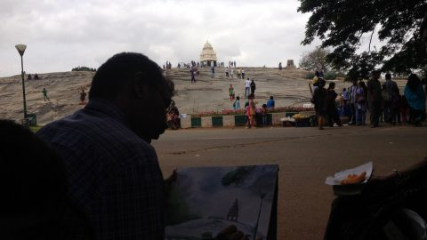 Beautiful #LalBagh captured in watercolor