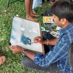 Landscape drawing at Cubbon Park 1