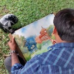 Landscape drawing at Cubbon Park 3