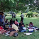 Landscape drawing at Cubbon Park 4