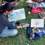Landscape drawing at Cubbon Park 5