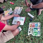 Landscape drawing at Cubbon Park 6