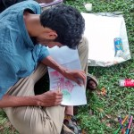 Landscape drawing at Cubbon Park 7