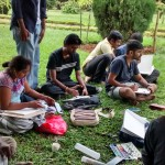 Landscape drawing at Cubbon Park 10