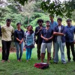 Landscape drawing at Cubbon Park 11