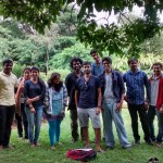 Landscape drawing at Cubbon Park 12