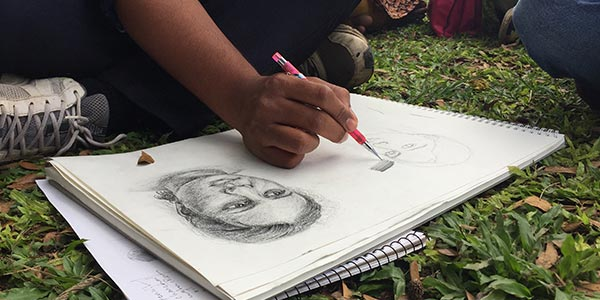 Learn portrait sketching in Banaglore weekend art classes Fine Arts Education We Offer Learn Potrait sketching with pencil and chai