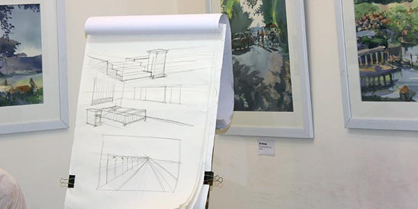 Learn Architectural sketching weekend art classes Fine Arts Education We Offer Learn prespective sketching with pencil and chai