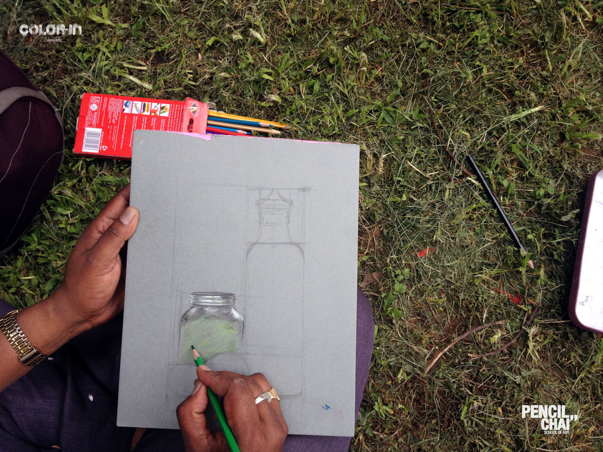 revamp session revealed the secrets of picture composition Revamp session revealed the secrets of Picture composition Pencil And Chai Object Compsition Sketching Session49