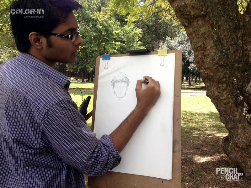 sunday outdoor art session Sunday outdoor art session Line drawing fundamentals PencilAndChai ColorIn9