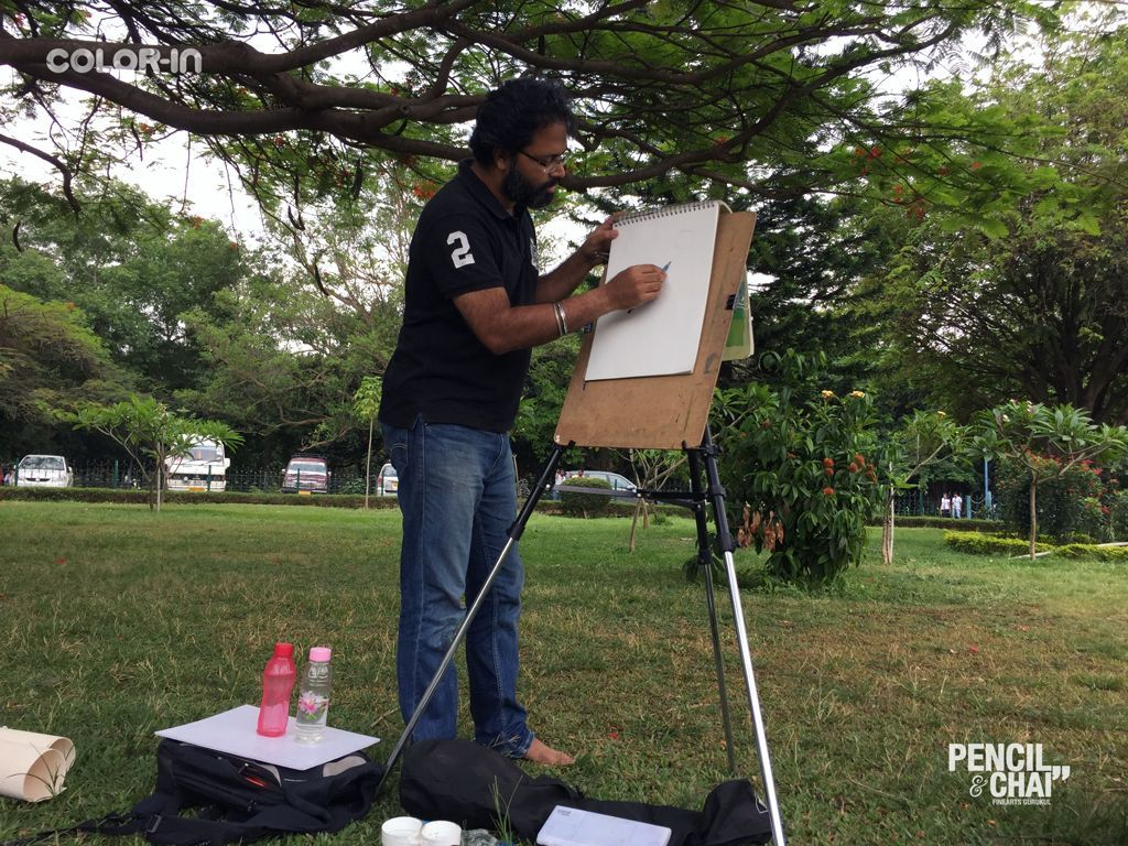 Fine arts courses offered by pencil and chai fine arts gurukul blr