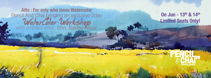 """Hues Of Watercolour"" With Shri.Sadhu Aliyur #PAC100 2"