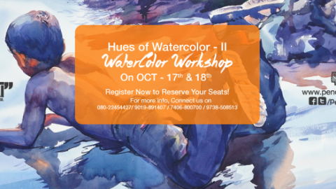 Watercolor Workshop With Eminent Artist Shri. Sadhu Aliyur – Hues of Watercolor-2