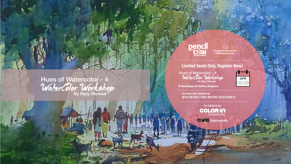 Watercolor Workshops HUES OF WATERCOLOR – 4 WITH BIJAY BISWAAL- Watercolor Workshops in Bangalore Hues of watercolor 4 by Bijay Biswaal Event cover2
