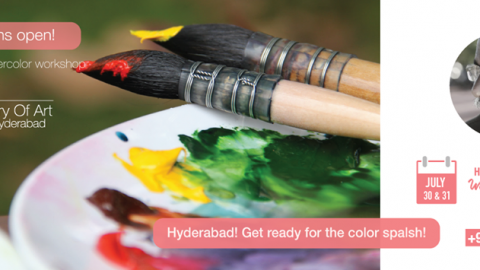 Hues of Watercolor 7 in Hyderabad – 2day Watercolor workshop by Sadhu Aliyur