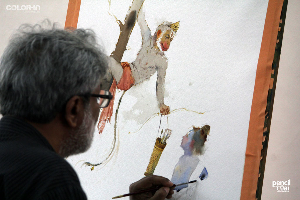 painting workshop Hues of Watercolor 6 Painting Workshop in bangalore-Vasudeo Kamath IMG 3001