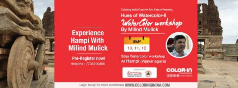 A dream workshop by Milind Mulick in Hampi – Hues of Watercolor 8