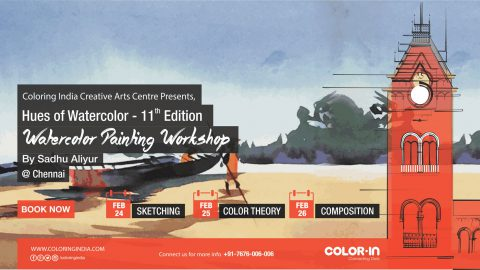 Watercolor painting workshop by Sadhu Aliyur in Chennai