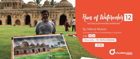 Watercolor painting workshop by Milind Mulick in Banaglore