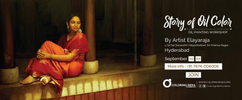 Story of Oil Colors 2 – Oil Painting Workshop in Hyderabad by S.Elayaraja