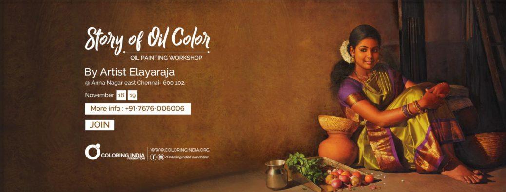 story of oil colors- oil painting workshop in chennai  Story of Oil Colors 3 – Oil Painting Workshop in Chennai by S.Elayaraja SOO3 FB Web Banner 1038x395