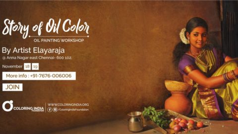 Story of Oil Colors 3 – Oil Painting Workshop in Chennai by S.Elayaraja