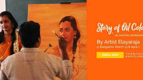 Oil Painting Workshop by S.Elayaraja – Story of Oil Color 4