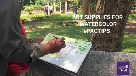 Art supplies for watercolor painting and tips for beginners :