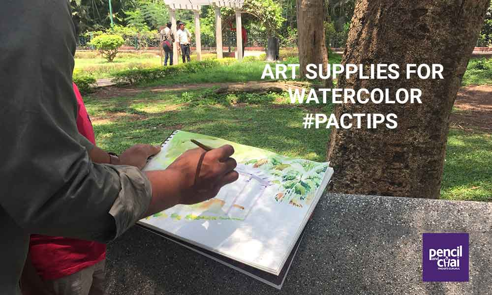 Art supplies for watercolor painting and tips for beginners!