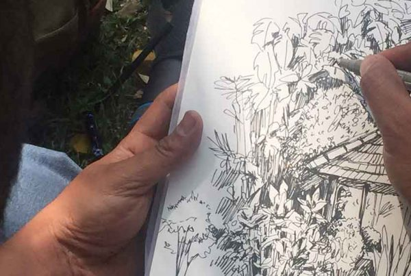 Plein Air Sketching Bangalore by Pencil And Chai