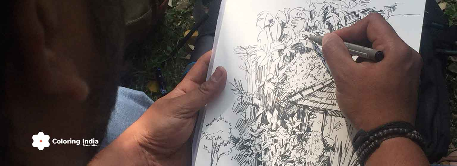Plein Air Sketching Bangalore