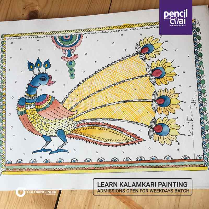 Kalamkari Painting Classes Offered by Pencil And Chai