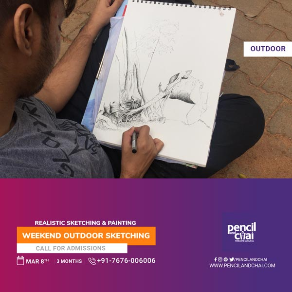 Fine Art Courses-New weekends new batch for sketching by Pencil & Chai