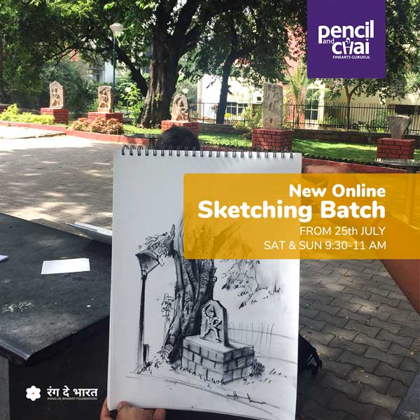Online sketching classes by Pencil and chai