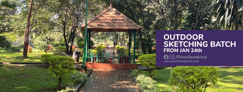 Realistic art, outdoor sketching classes by Pencil and chai