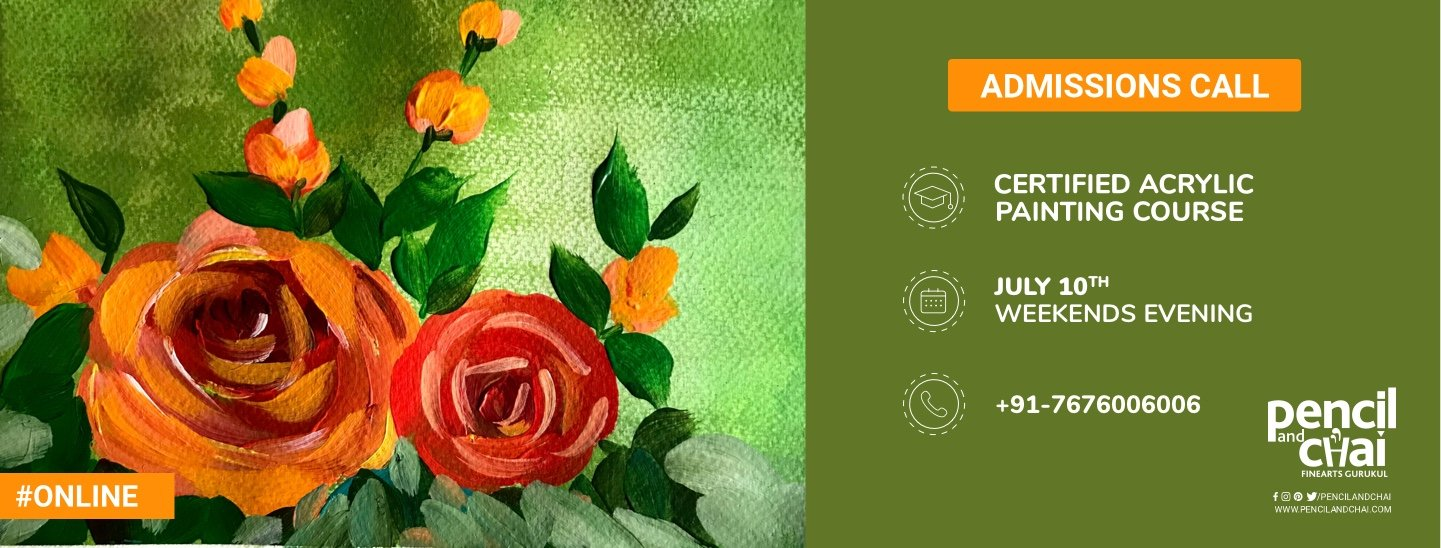 Want to learn acrylic painting? Join Pencil And Chai's Online Course!